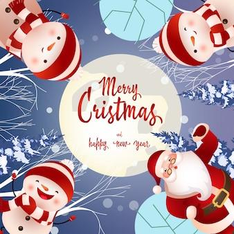 Frohe weihnachten-schriftzug auf kreis