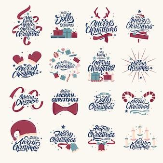 Frohe weihnachten schriftzug designs