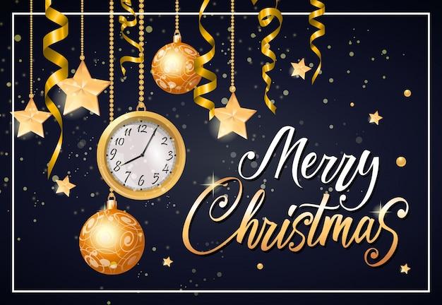 Frohe weihnachten schriftzug im rahmen