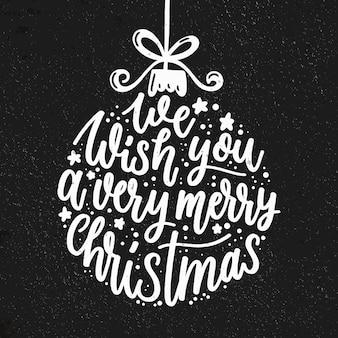 Frohe weihnachten schriftzug konzept