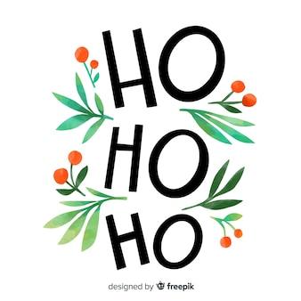 Frohe weihnachten-schriftzug mit ho ho ho