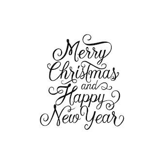 Frohe weihnachten schriftzug mit locken