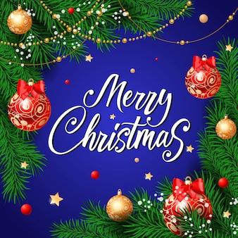 Frohe weihnachten-schriftzug mit perle