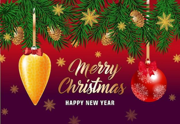 Frohe weihnachten schriftzug mit schneeflocken