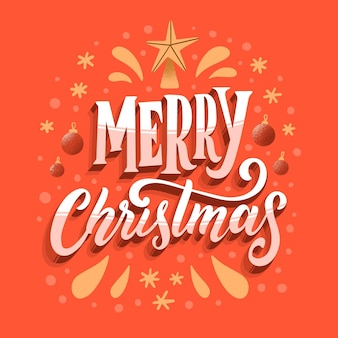 Frohe weihnachten schriftzug mit stern