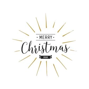 Frohe weihnachten schriftzug und band