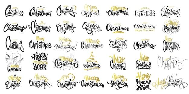 Frohe weihnachten set illustration