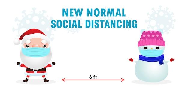 Frohe weihnachten soziale distanzierung