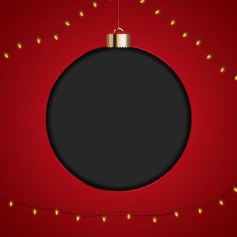 Frohe weihnachten spielerei banner vorlage