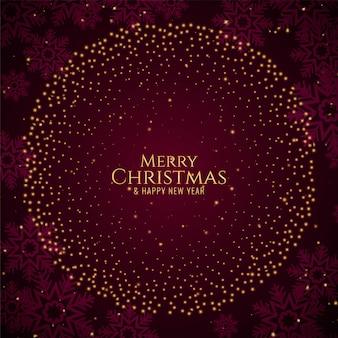 Frohe weihnachten stilvolle glitzer
