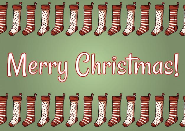 Frohe weihnachten strümpfe postkarte