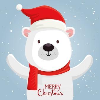 Frohe weihnachten süße bär charakter