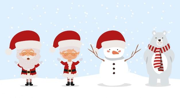 Frohe weihnachten-szene mit zeichen