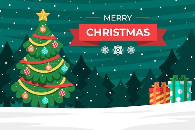 Frohe weihnachten tapetenkonzept