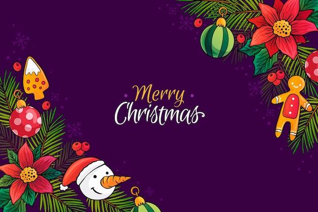 Frohe weihnachten tapetenzeichnung