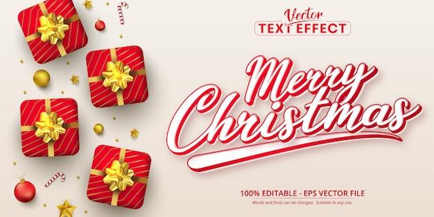 Frohe weihnachten text kalligraphie stil bearbeitbaren texteffekt