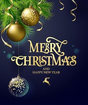 Frohe weihnachten text kalligraphische beschriftung design-kartenvorlage. kalligraphische handgemachte beschriftung.