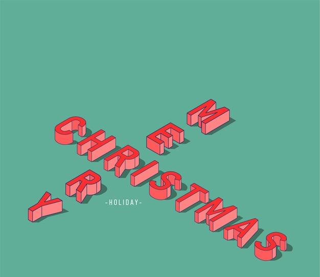 Frohe weihnachten textdesign 3d kreativ
