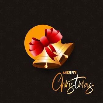 Frohe weihnachten tippfehler mit jingle bell