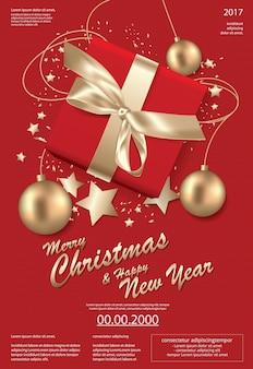 Frohe weihnachten u. guten rutsch ins neue jahr-schablonenhintergrund illustration