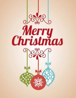 Frohe weihnachten über rosa hintergrundvektorillustration