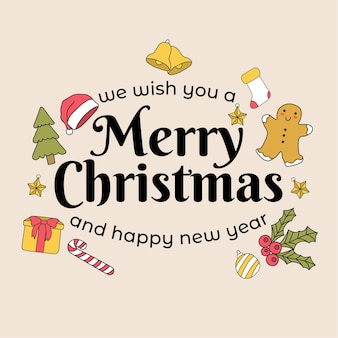 Frohe weihnachten und ein glückliches neues jahr. geschenkkarte hintergrund.