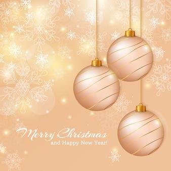 Frohe weihnachten und ein glückliches neues jahr! grußkarte.
