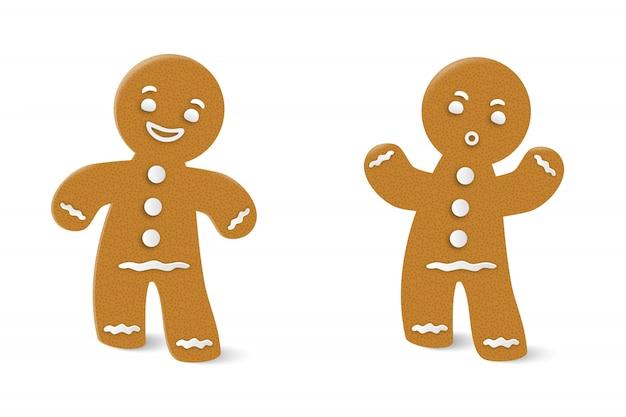 Frohe weihnachten und ein glückliches neues jahr. lebkuchenmann