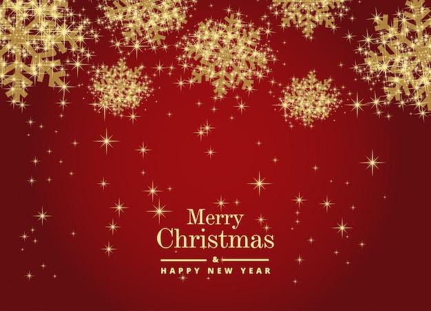 Frohe weihnachten und ein glückliches neues jahr mit schönen schneeflocken. vektor vorlage backgr