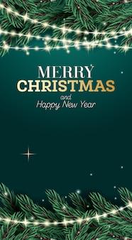 Frohe weihnachten und ein glückliches neues jahr-plakat