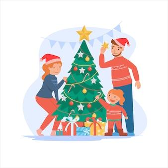 Frohe weihnachten und ein gutes neues jahr für eltern und kinder.