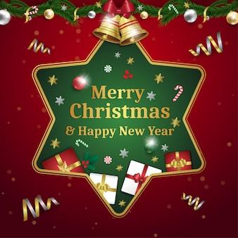 Frohe weihnachten und ein gutes neues jahr grußkarte