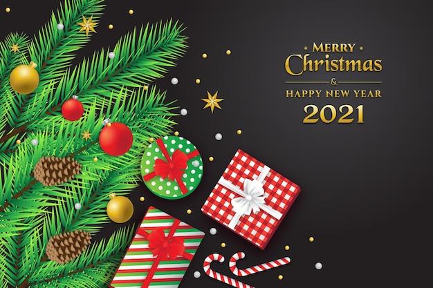 Frohe weihnachten und ein gutes neues jahr hintergrund