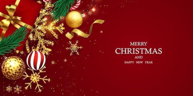 Frohe weihnachten und ein gutes neues jahr hintergrund.