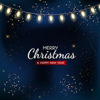 Frohe weihnachten und ein gutes neues jahr poster.