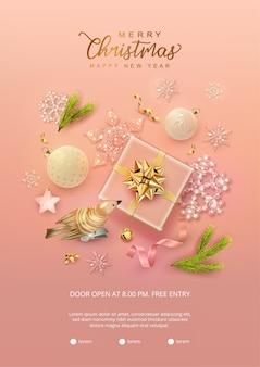 Frohe weihnachten und ein gutes neues jahr poster
