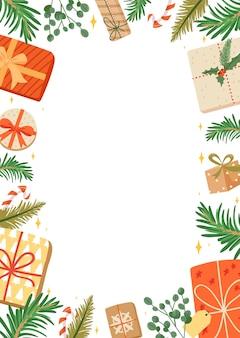 Frohe weihnachten und ein gutes neues jahr rahmen.