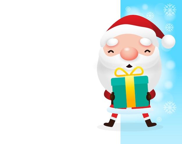Frohe weihnachten und ein gutes neues jahr santa claus