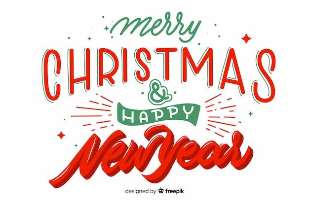 Frohe weihnachten und ein gutes neues jahr schriftzug