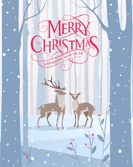 Frohe weihnachten und ein gutes neues jahr typografie design