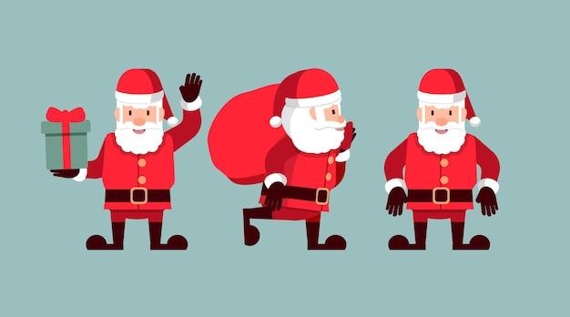 Frohe weihnachten und ein gutes neues jahr, weihnachtsmann