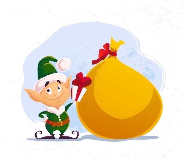 Frohe weihnachten und frohes neues jahr illustration mit weihnachtsmann