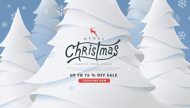 Frohe weihnachten und frohes neues jahr verkauf banner hintergrund