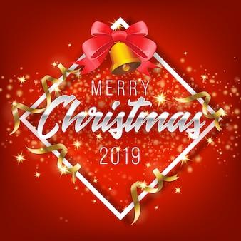 Frohe weihnachten und guten rutsch ins neue jahr 2019 grußkarten-hintergrund.