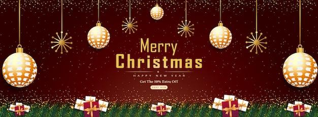 Frohe weihnachten und guten rutsch ins neue jahr abstrakter hintergrund mit realistischen weihnachtselementen vektor