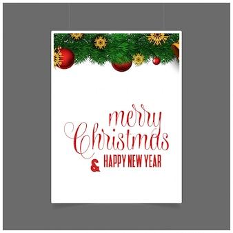 Frohe weihnachten und guten rutsch ins neue jahr-geschenkartikelhintergrund