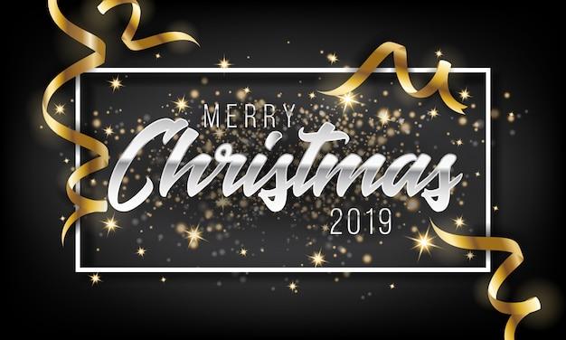 Frohe weihnachten und guten rutsch ins neue jahr-hintergrund 2019