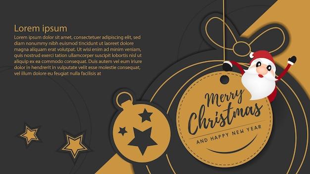 Frohe weihnachten und guten rutsch ins neue jahr-hintergrund. banner-design. vektor-illustration