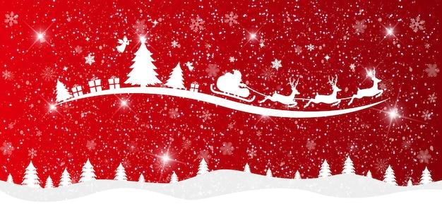Frohe weihnachten und guten rutsch ins neue jahr-hintergrund.