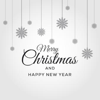 Frohe weihnachten und guten rutsch ins neue jahr-vektor-hintergrund-weihnachtsdesign